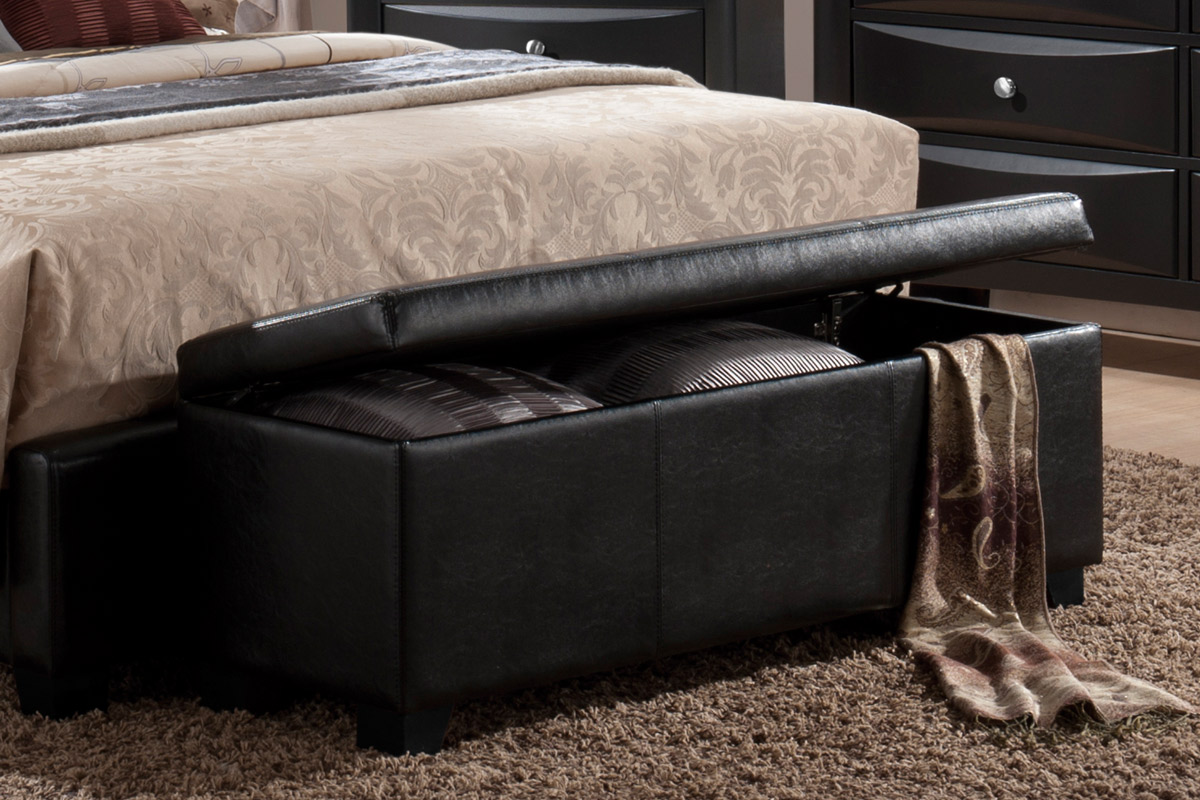 Bench Wstorage Casye Furniturecasye Furniture - Large Black Storage Ottoman