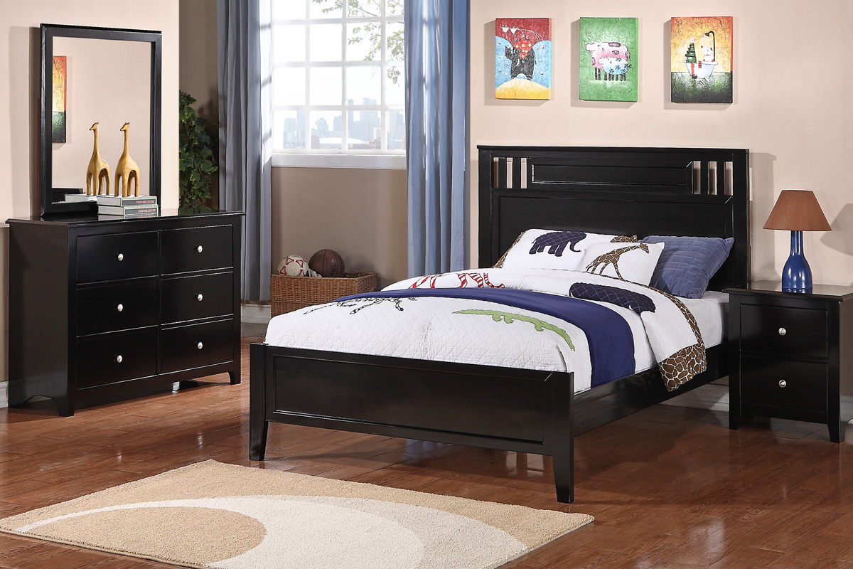 4 pc bedroom set twin or full size 9046px casye furniturecasye furniture. Black Bedroom Furniture Sets. Home Design Ideas