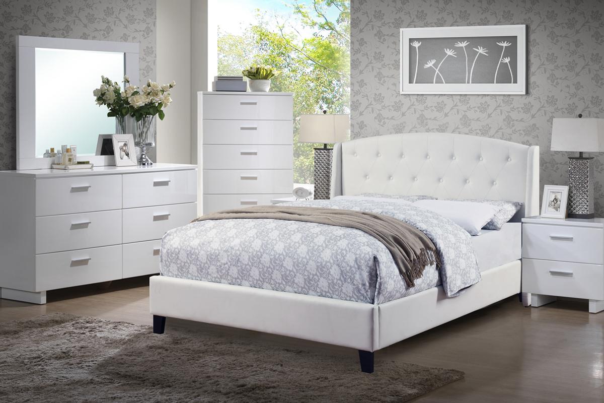 pcs bedroom set white bonded leather 9296px 4 pcs bedroom set white ...