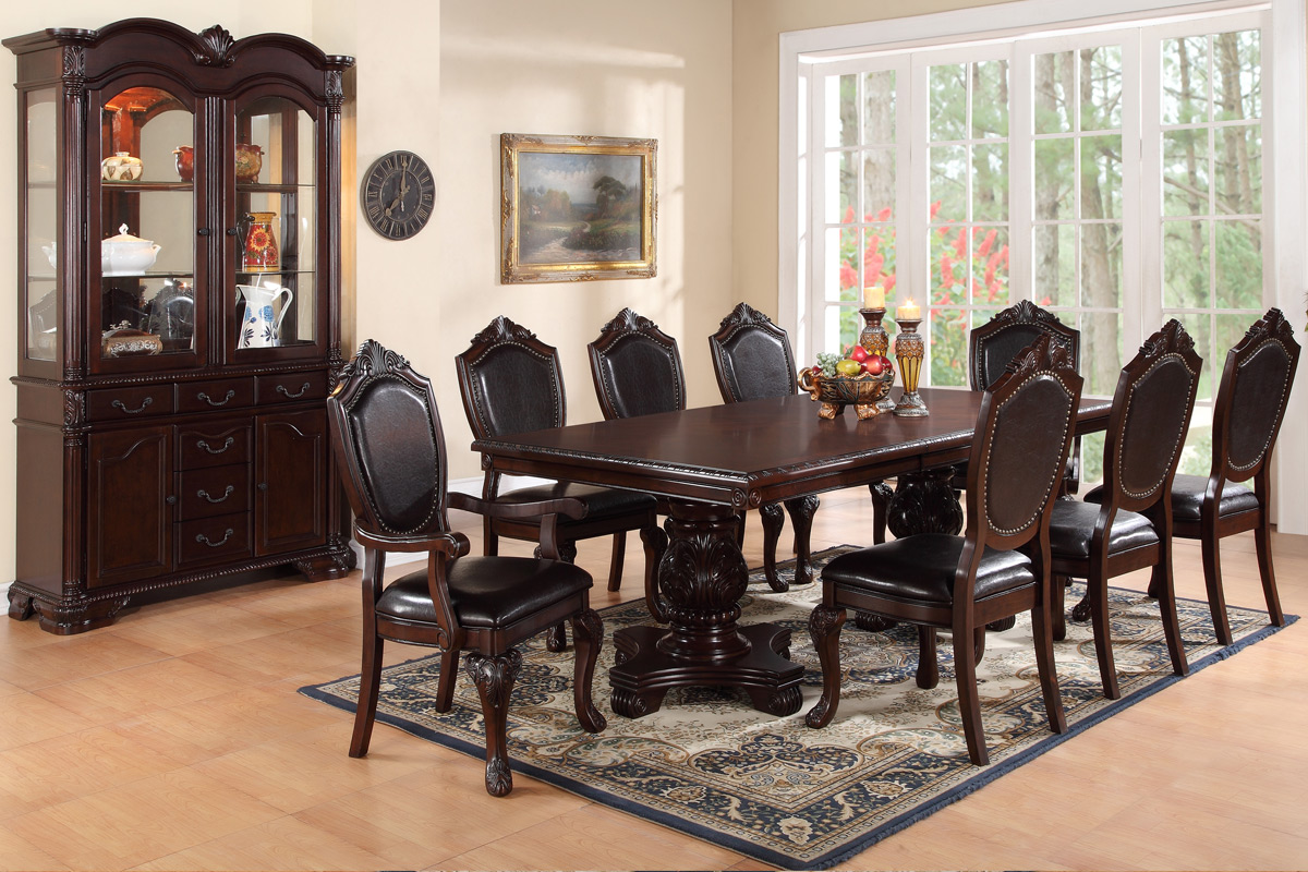 7pc formal dining set 2182 px casye furniturecasye for Formal dining set