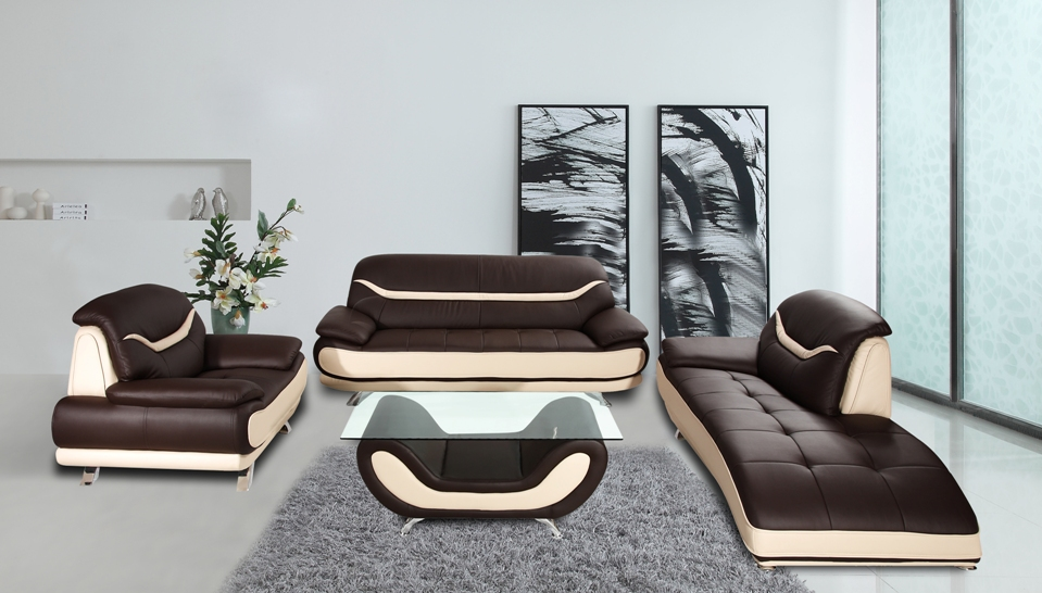 4pc modern living set maya collection casye for Ava chaise lounge