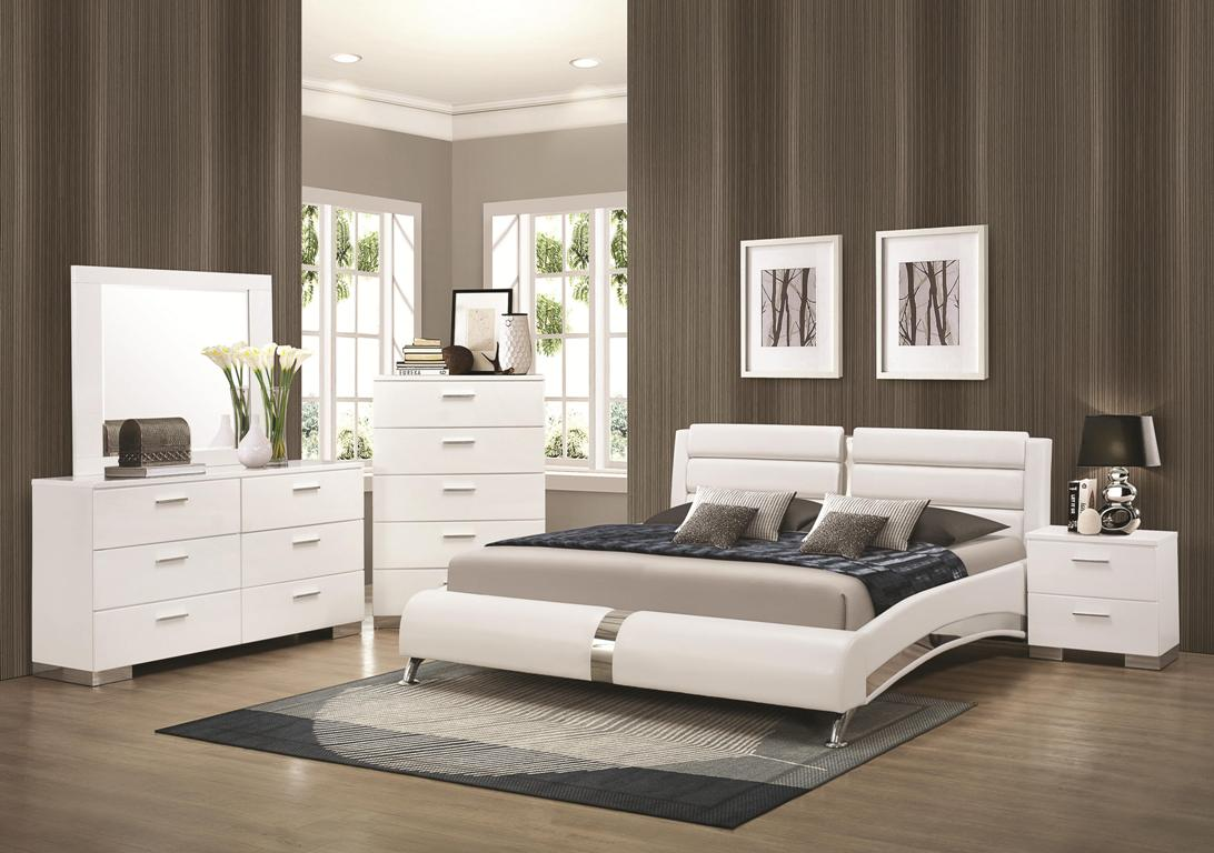 4pc bedroom set felicity collection co white color casye