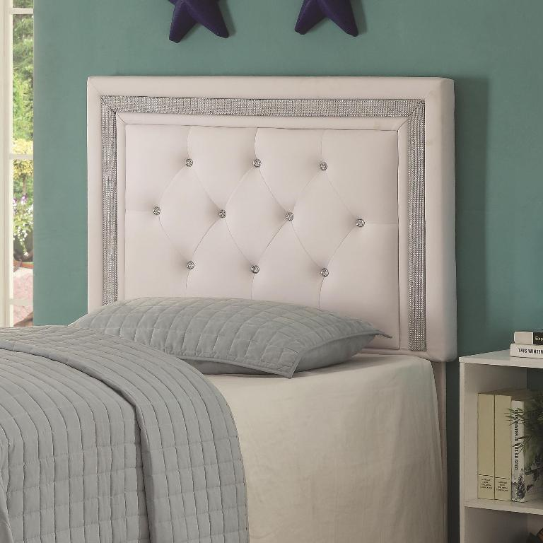 Andenne headboard diamond tufting with faux crystal for Fake headboard